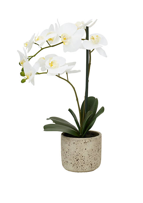Elements Polysilk White Orchid Artifical Grennery