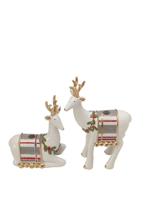 Fitz and Floyd Set of 2 Mistletoe Merriment