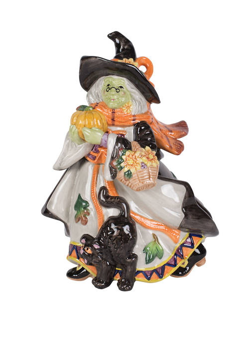 Fitz and Floyd Halloween Harvest Witch Canister