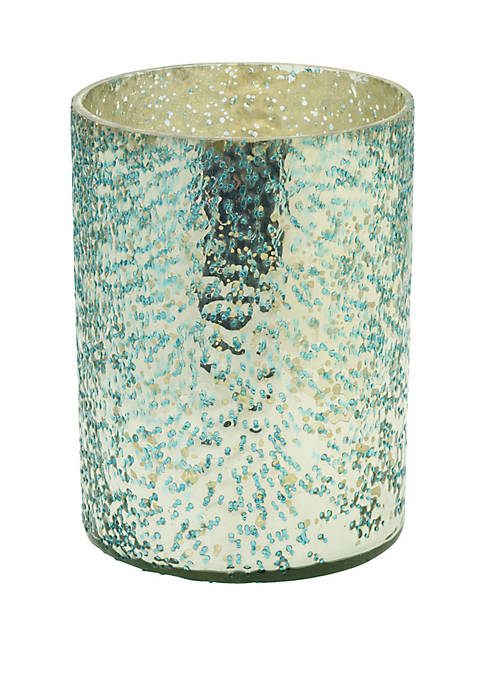 Elements Turquoise Mercury Glass Votive Holder