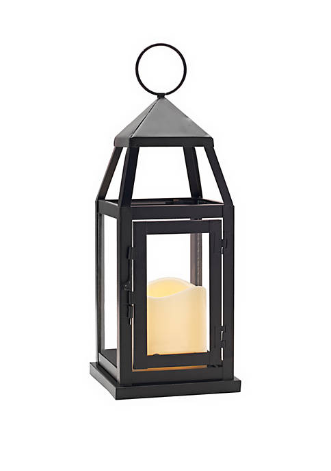 Elements Black Metal Lantern