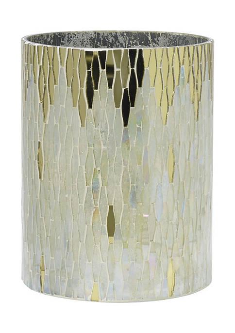 Elements Mosaic Glass Hurricane Candle Holder