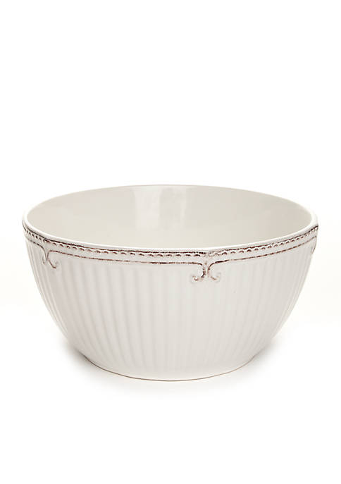 Home Accents® Capri White Deep Serving Bowl