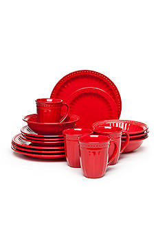 Home Accents® Palace Red 16-Pc Dinnerware Set