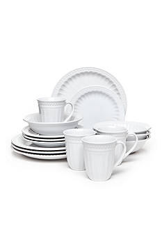 Home Accents® Palace White 16-Piece Dinnerware Set