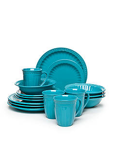 Home Accents® Palace Turquoise 16-Pc Dinnerware Set