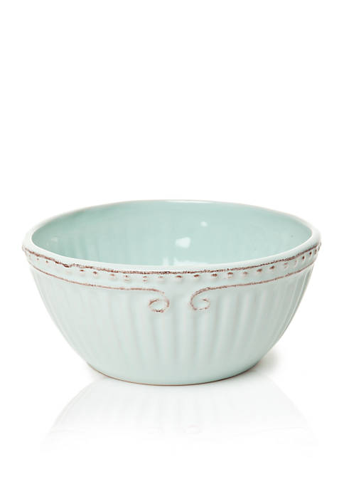 Home Accents® Capri Robins Egg Cereal Bowl