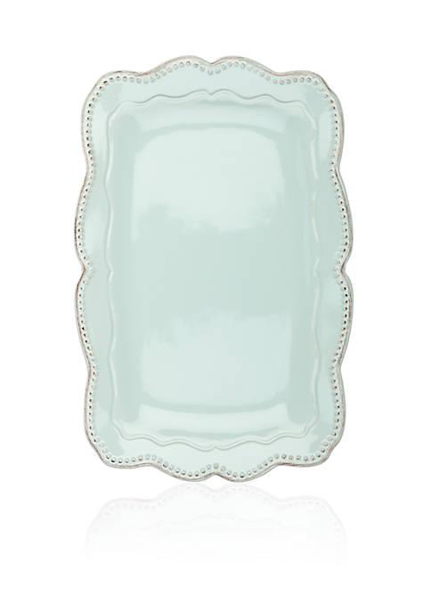 Home Accents® Capri Robins Egg Rectangular Platter