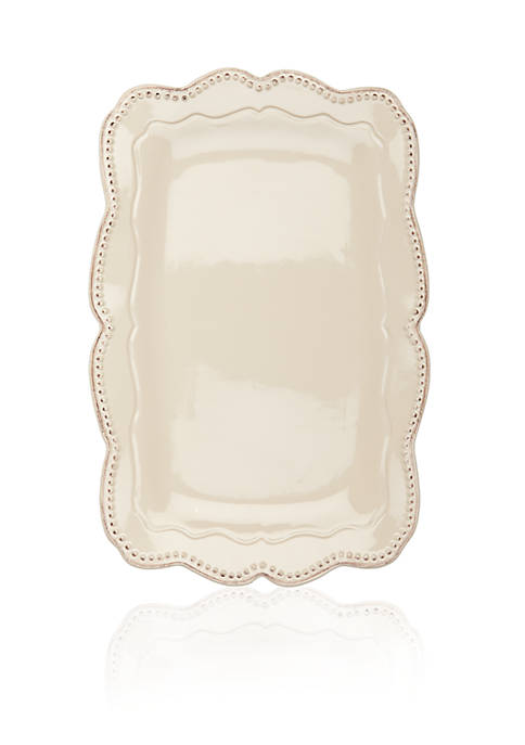 Home Accents® Capri Sand Rectangular Platter