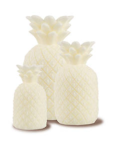 Front Porch 3-Piece LED Pineapple Candle Set
