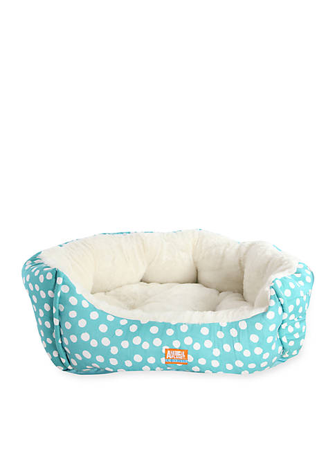 18-in. Polka Dotted Micro Suede Pet Bed