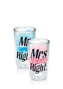 2-Pack 16-oz. Mr. & Mrs. Always Right Tumbler Set