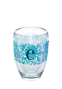 Blooming Initial Stemless Wine Glass