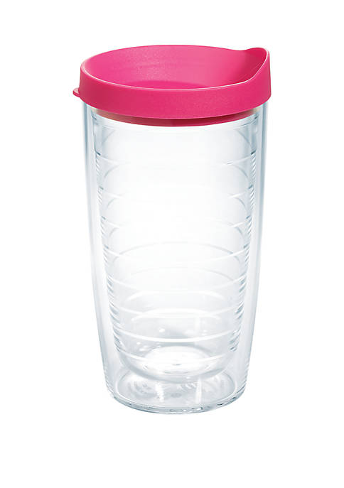 Tervis® 16 oz Clear Plastic Tumbler with Pink