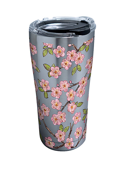 Hand Drawn Blossoms Stainless Steel Tumbler- 20 oz
