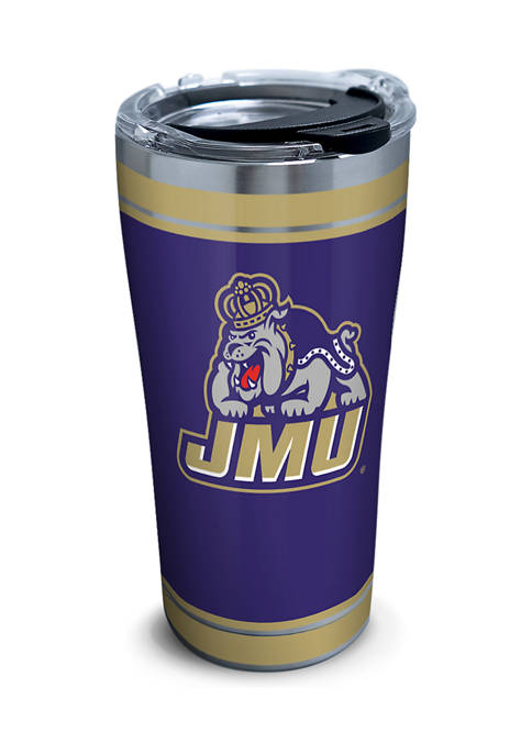 NCAA James Madison University Dukes Campus 20 Ounce Stainless Tumbler with Lid