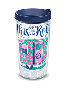 Tervis® Simply Southern How I Roll Camper 16 oz Tumbler with Lid
