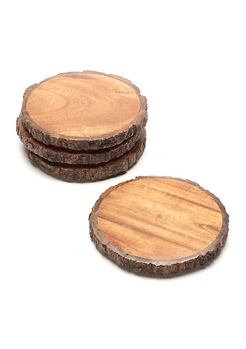 Biltmore® Raw Bark Edge Coasters