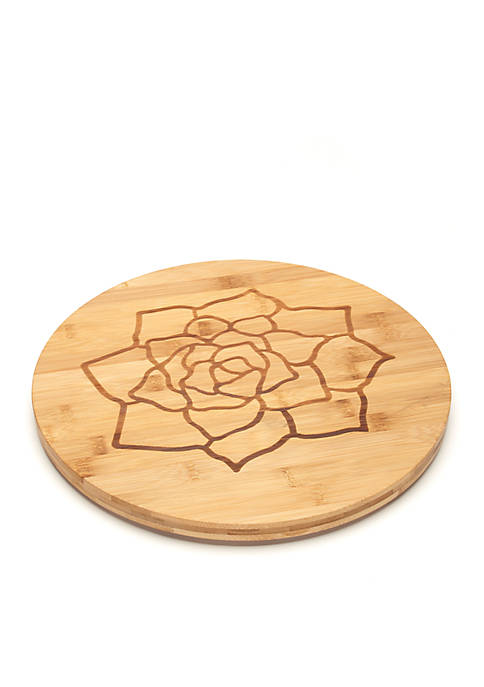Cooks Tools™ Succulents Etched Bamboo Cutting Board