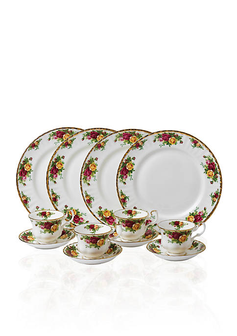 Royal Albert Old Country Roses 12-Piece Dinnerware Set