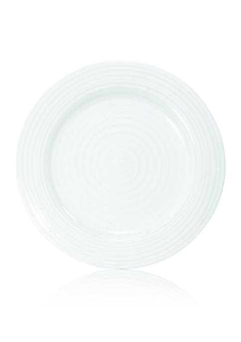 White Luncheon Plates, Set of 4