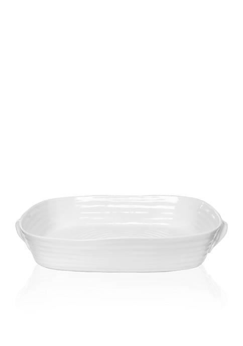 Sophie Conran White Large Handled Rectangular Roasting Dish