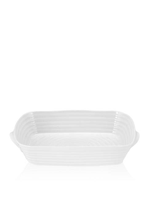 Sophie Conran White Small Handled Rectangular Roasting Dish 10.75-in.