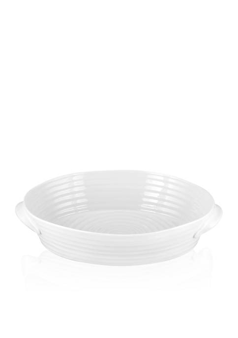 Sophie Conran White Small Handled Oval Roasting Dish 9-in. x 6-in. x 2-in.