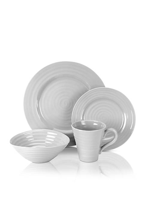 Portmeirion SC GREY 4PPS:4 Piece Place Setting:GREY