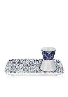 Portmeirion Blanchard Egg Cup & Snack Plate