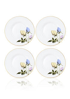 Portmeirion Rosie Lee Set of 4 White Bread & Butter Plates
