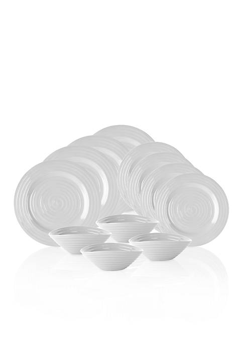 Portmeirion Sophie Conran Gray 12-Piece Place Setting