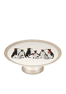 Penguin Footed Cake Plate