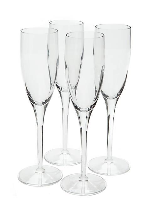 Luigi Bormioli Michelangelo Champagne Flute, Set of 4