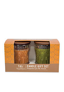 Harvest Twin Pack Jeweled Candles Gift Set