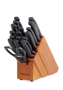 Farberware 18-Piece Never Needs Sharpening Cutlery Block Set