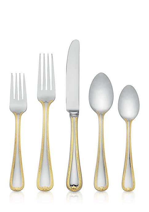 Lenox® Vintage Jewel 5-Piece Gold Flatware Set