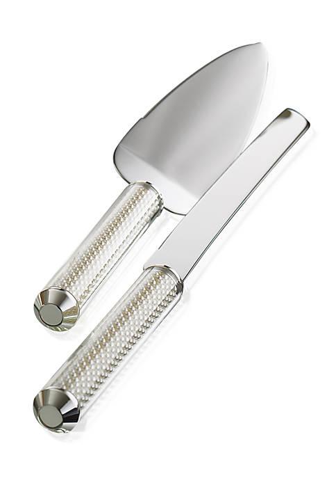 Lenox® Jubilee Pearl 2-Piece Cake Knife & Server