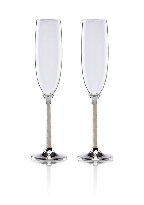 Lenox® Jubilee Pearl 2-Piece Crystal Toasting Flute Set