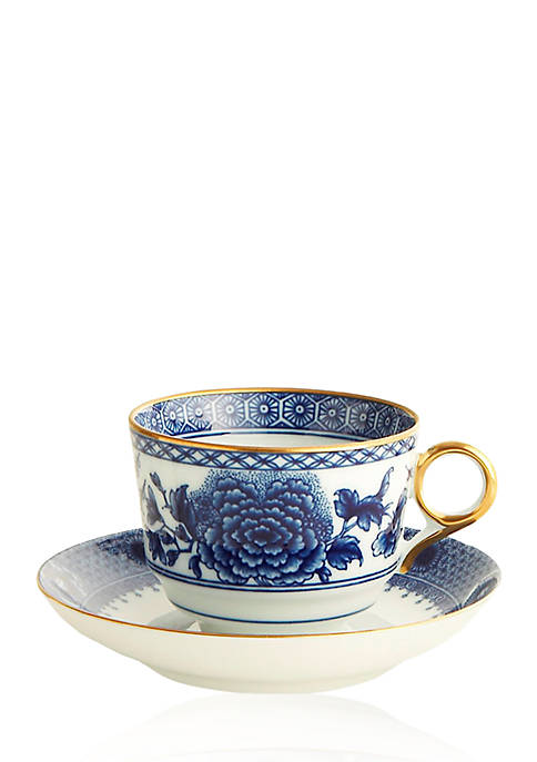 Mottahedeh Imperial Blue Tea Cup & Saucer