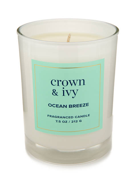 Crown & Ivy™ 7.5 Ounce Ocean Breeze Candle
