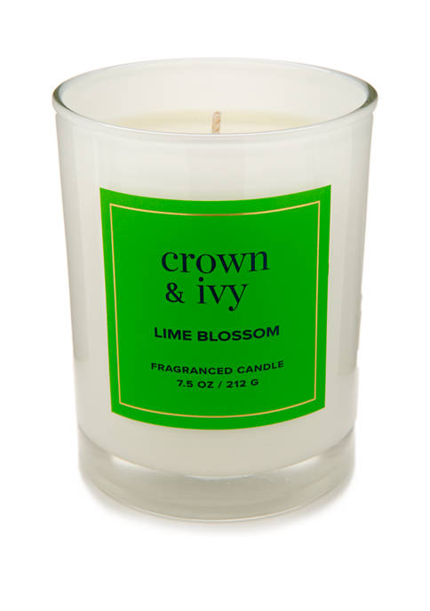 Crown & Ivy™ 7.5 Ounce Lime Blossom Candle