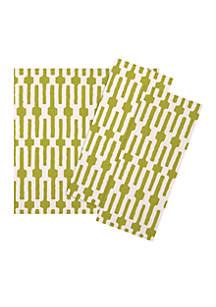 Lime Green Links Napkin
