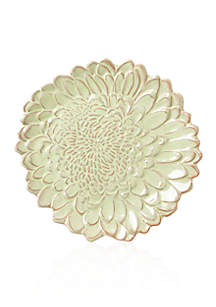 Bellezza Bloom Celadon Chrysanthemum Salad Plate 8.5-in.