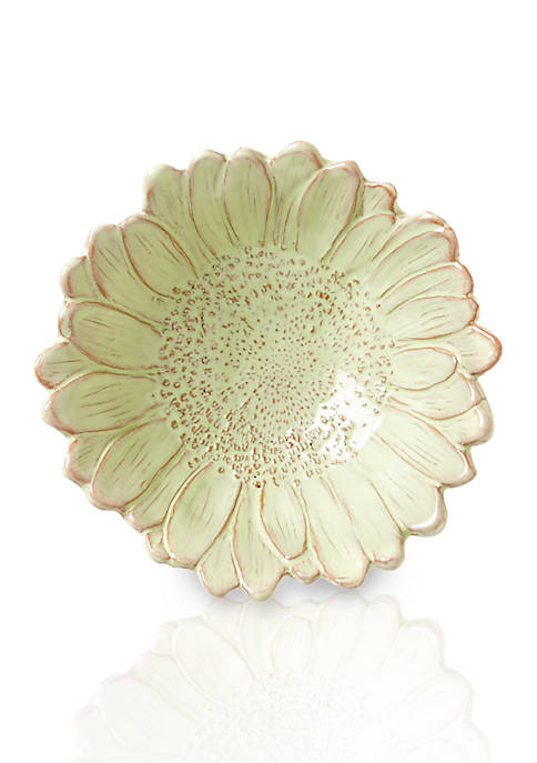 Vietri Bellezza Bloom Celadon Daisy Small Bowl 6.5-in.