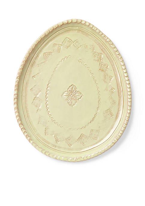 Bellezza Spring Celadon Oval Salad Plate