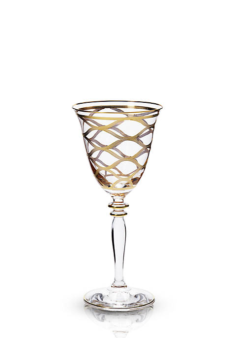 Vietri Elegante Net Wine Glass