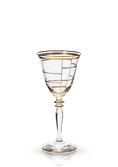 Vietri Elegante Grid Wine Glass