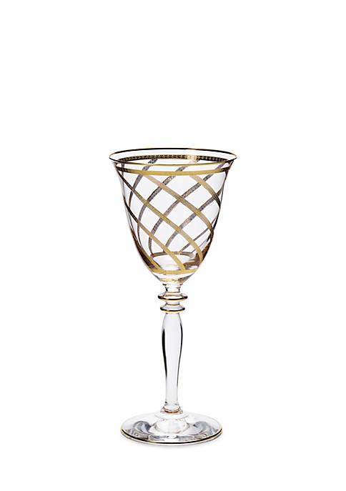 Vietri Elegante Lattice Wine Glass