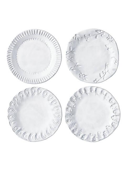 Vietri Incanto White Individual Canape Plate